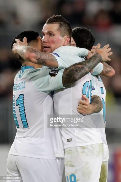 Anton Zabolotny of Zenit Saint Petersburg reacts after his goal during the UEFA Europa League Group C match between Girondins de Bordeaux and Zenit...