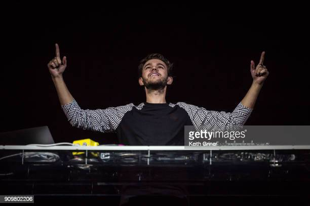 Anton Zaslavki, better known as the DJ Zedd, performs at Bankers Life Fieldhouse on December 12, 2017 in Indianapolis, Indiana.