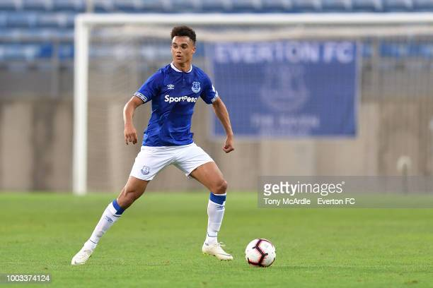 Antonee Robinson of Everton controls the ball during the Algarve Cup match between Everton and Lille on July 21 2018 in Faro Portugal