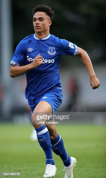 Antonee Robinson of Everton during the PreSeason Friendly at Gigg Lane on July 18 2018 in Bury England
