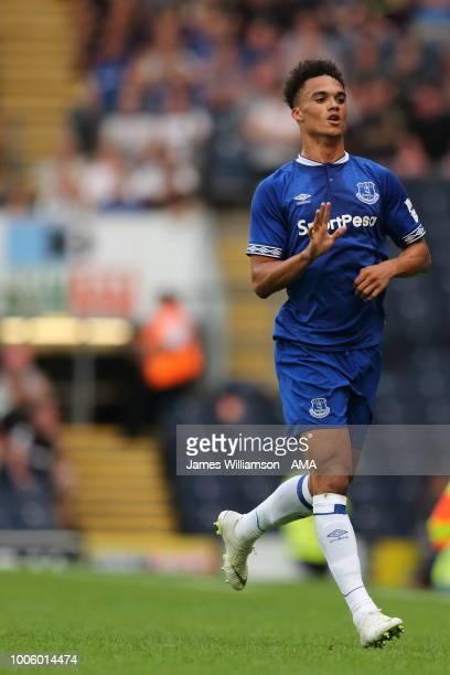 Antonee Robinson of Everton during the preseason friendly between Blackburn Rovers and Everton at Ewood Park on July 26 2018 in Blackburn England