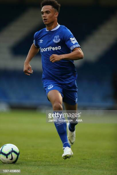 Antonee Robinson of Everton during the PreSeason Friendly match between Bury and Everton at Gigg Lane on July 18 2018 in Bury England