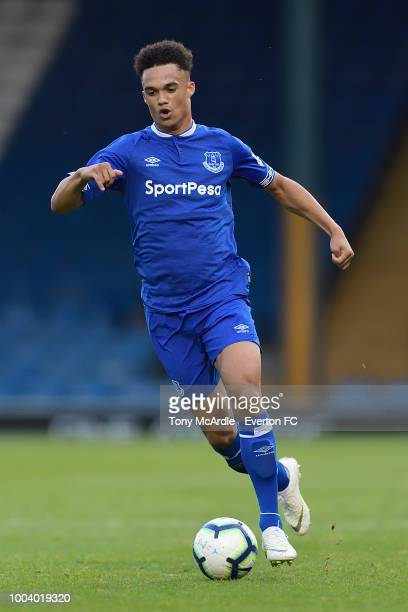 BURY ENGLAND JULY 18 Antonee Robinson of Everton during the PreSeason friendly match between Bury and Everton at the Gigg Lane on July 18 2018 in...