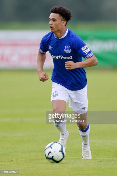 Antonee Robinson of Everton on the ball during the preseason friendly match between ATV Irdning and Everton on July 14 2018 in Liezen Austria