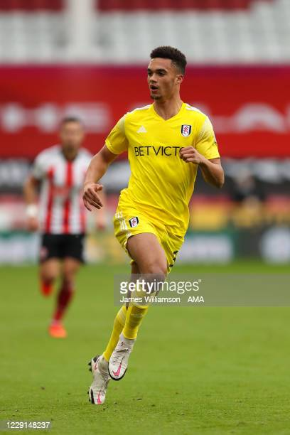 Antonee Robinson of Fulham during the Premier League match between Sheffield United and Fulham at Bramall Lane on October 18 2020 in Sheffield United...