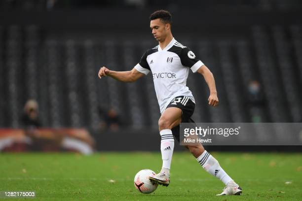Antonee Robinson of Fulham in action during the Premier League match between Fulham and Crystal Palace at Craven Cottage on October 24 2020 in London...