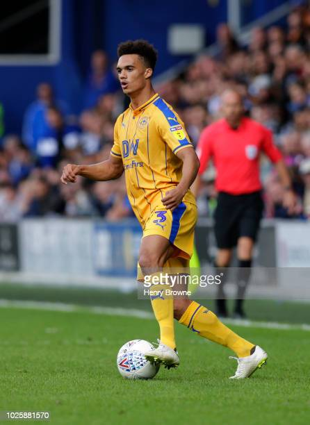 Antonee Robinson of Wigan Athletic during the Sky Bet Championship match between Queens Park Rangers and Wigan Athletic at Loftus Road on August 25...