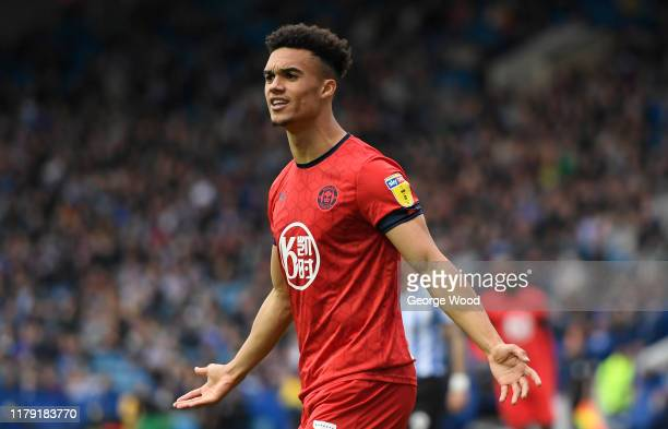 Antonee Robinson of Wigan Athletic reacts during the Sky Bet Championship match between Sheffield Wednesday and Wigan Athletic at Hillsborough...
