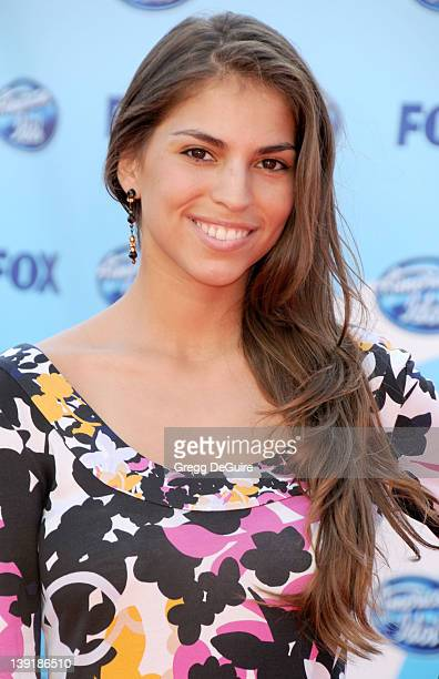 Antonella Barba arrives at the American Idol Season 8 Finale held at the Nokia Theatre LA Live on May 20 2009 in Los Angeles California