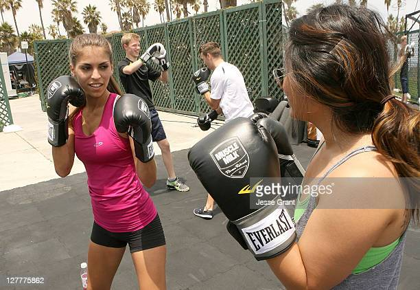 Antonella Barba attends the Muscle Milk Fitness Retreat on June 17 2011 in Venice California