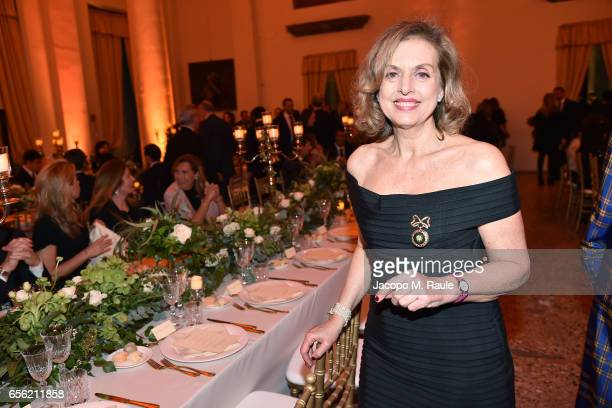 Antonella Boralevi attends a dinner for 'Damiani Un Secolo Di Eccellenza' at Palazzo Reale on March 21 2017 in Milan Italy