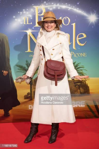 "Antonella Boralevi attends the ""Il Primo Natale"" Photocall on December 10, 2019 in Milan, Italy."