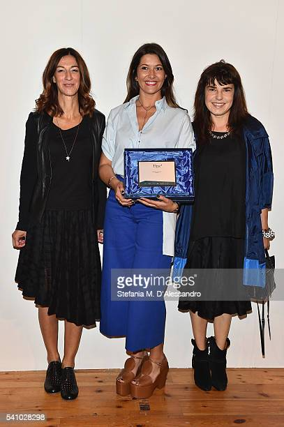 Antonella Bruno and Federica Tosi and Brenda Bellei Bizzi attend Lancia Time Award Ceremony during Milan Men's Fashion Week SS17 on June 18 2016 in...