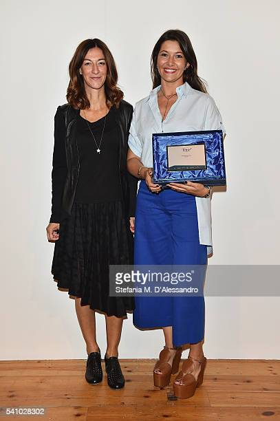 Antonella Bruno and Federica Tosi attend Lancia Time Award Ceremony during Milan Men's Fashion Week SS17 on June 18 2016 in Milan Italy