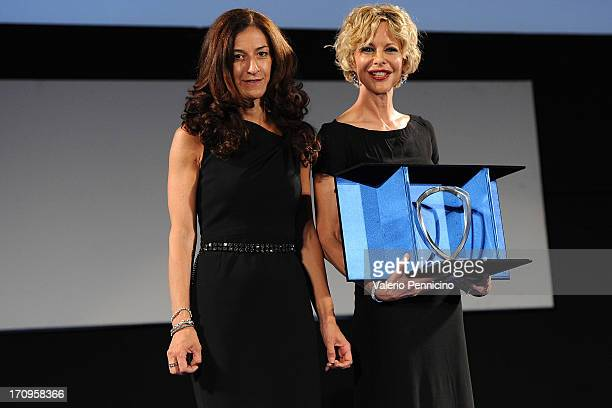 Antonella Bruno and Meg Ryan attend the Taormina Filmfest 2013 on June 20 2013 in Taormina Italy