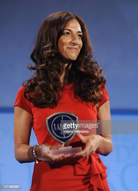 Antonella Bruno Market Director Italy of Lancia Brand at Fiat Group attends the 2012 Nastri d'Argento Ceremony Awards on June 30 2012 in Taormina...