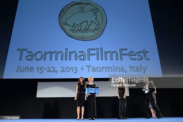 Antonella Bruno Meg Ryan Tiziana Rocca and Mario Sesti attend Taormina Filmfest 2013 2013 at Teatro Antico on June 20 2013 in Taormina Italy