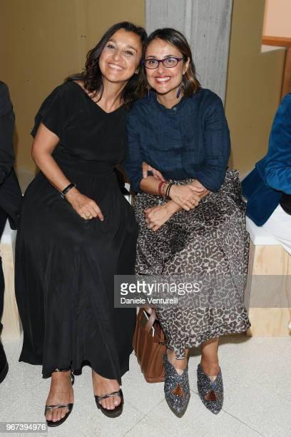 Antonella Bussi and Maria Elena Viola attend Max Mara Resort Show 2019 at Collezione Maramotti on June 4 2018 in Reggio nell'Emilia Italy