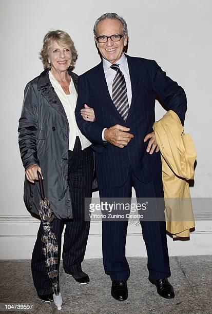 Antonella Camerana and Francesco Micheli attend the Jazz & Models Exhibition Opening held at Palazzo Morando on October 4, 2010 in Milan, Italy.