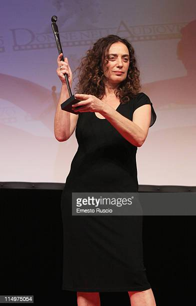 "Antonella Cannarozzi attends the ""Premio Afrodite"" at Studios on May 31, 2011 in Rome, Italy."