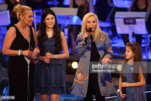 Antonella Clerici and Patty Pravo attend 'Ti lascio Una Canzone' at the Auditorium of Naples on May 1 2010 in Naples Italy