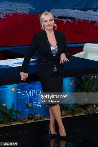 Antonella Clerici attends 'Che Tempo Che Fa' tv show at Rai Milan Studios on October 21 2018 in Milan Italy