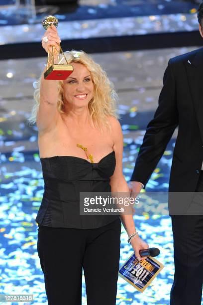 Antonella Clerici attends 'Premio TV 2011' Ceremony Award held at Teatro Ariston on March 20 2011 in San Remo Italy