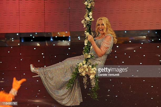 Antonella Clerici attends the 60th Sanremo Song Festival at the Ariston Theatre On February 17 2010 in San Remo Italy