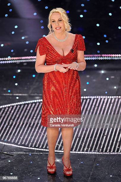 Antonella Clerici attends the 60th Sanremo Song Festival at the Ariston Theatre On February 16 2010 in San Remo Italy