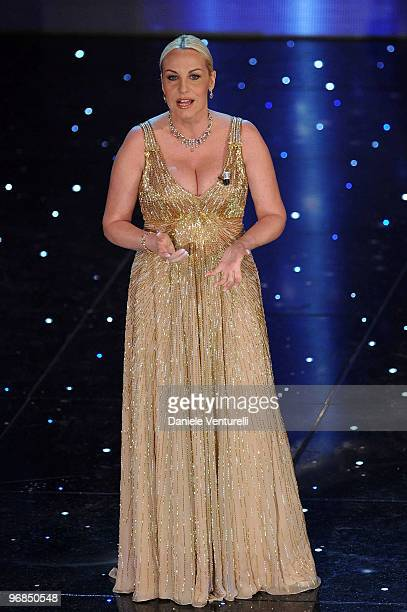 Antonella Clerici attends the 60th Sanremo Song Festival at the Ariston Theatre On February 18 2010 in San Remo Italy