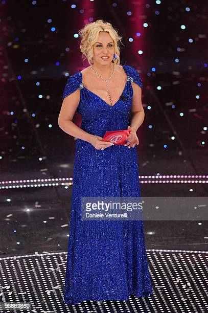 Antonella Clerici attends the 60th Sanremo Song Festival at the Ariston Theatre On February 19 2010 in San Remo Italy