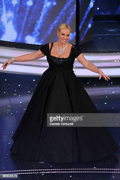 Antonella Clerici attends the 60th Sanremo Song Festival at the Ariston Theatre on February 20 2010 in San Remo Italy