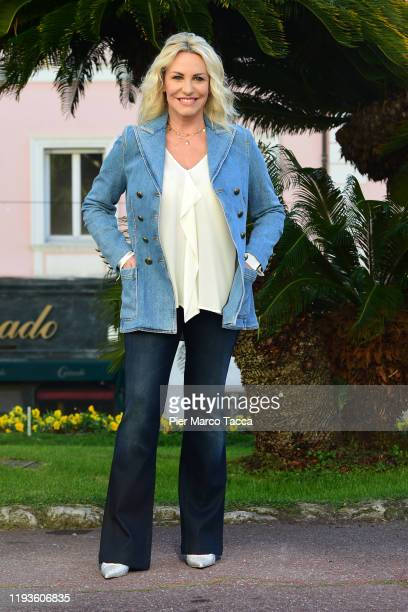 Antonella Clerici attends the 70 Sanremo Music Festival Press Conference on January 14 2020 in Sanremo Italy