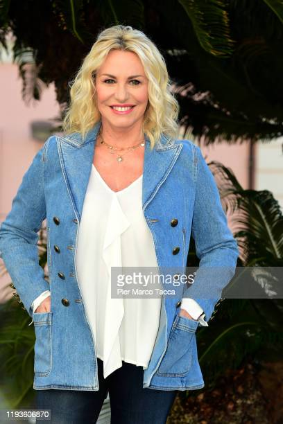 Antonella Clerici attends the 70 Sanremo Music Festival Press Conference on January 14 2020 in Sanremo Italy