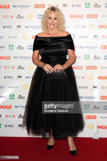 Antonella Clerici attends the celebrations of the 80 years of the Oggi magazine at Hotel Principe di Savoia on October 02 2019 in Milan Italy