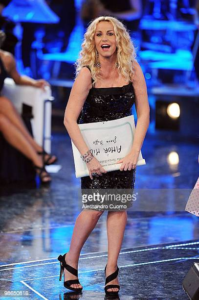 Antonella Clerici attends Ti lascio Una Canzone at the Auditorium of Naples on April 24 2010 in Naples Italy