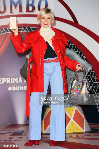 Antonella Elia attends a photocall for Dumbo at The Space Cinema Moderno on March 26 2019 in Rome Italy