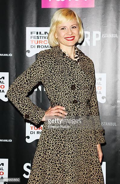 Antonella Elia attends the Turkish Film Festival of Rome at Cinema Barberini on April 16 2015 in Rome Italy
