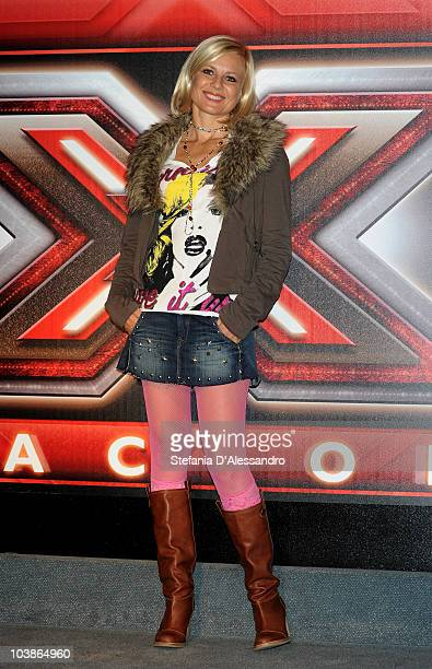 Antonella Elia attends 'X Factor' Press Conference held at the Blue Note on September 6 2010 in Milan Italy