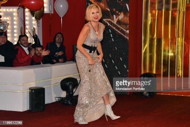 Antonella Elia during first episode tv broadcast Grande fratello vip 4 in the Cinecittà studios Rome January 08th 2020