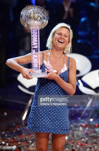 Antonella Elia wins 'L'Isola dei Famosi' 2012 on April 5 2012 in Milan Italy