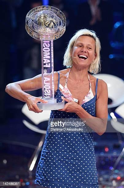 Antonella Elia wins L'Isola dei Famosi 2012 on April 5 2012 in Milan Italy