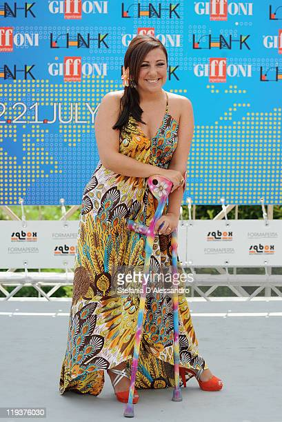 Antonella Ferrari attends the 2011 Giffoni Experience on July 19 2011 in Giffoni Valle Piana Italy