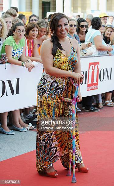 Antonella Ferrari poses with the Giffoni Award during the 2011 Giffoni Experience on July 19 2011 in Giffoni Valle Piana Italy