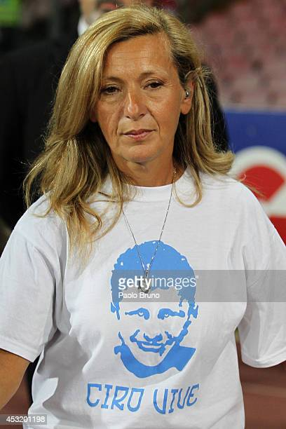 Antonella Leardi looks on during the preseason friendly match between SSC Napoli and PAOK at Stadio San Paolo on August 2 2014 in Naples Italy