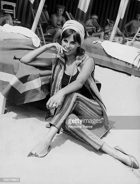 Antonella Lualdi At The Venice Fim Festival In 1955