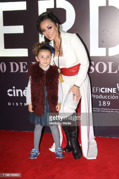 Antonella Melanitto and Ivonne Montero poses for photos during the 'Perdida' red carpet at Plaza Carso on January 7 2020 in Mexico City Mexico