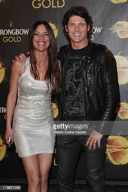 Antonella Mosetti and Aldo Montano attend 'The Gold Experience' red carpet on May 6 2011 in Milan Italy