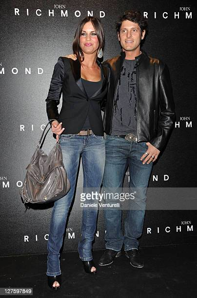 Antonella Mosetti and Aldo Montano attend the John Richmond Fashion Show as part of Milan Fashion Week Womenswear Autumn/Winter 2011 on February 23...