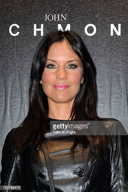 Antonella Mosetti arrives at John Richmond fashion show as part of Milan Fashion Week Menswear Autumn/Winter 2012 on January 16 2012 in Milan Italy